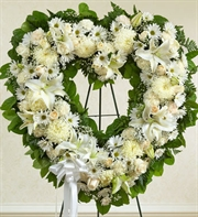White Always Remember Floral Heart Tribute