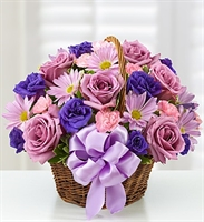 Basket Of Blooms For Mom - Premium