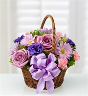 Basket Of Blooms For Mom