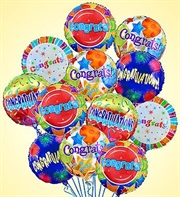 Air Arrangement Congratulations 12 Mylar Balloons