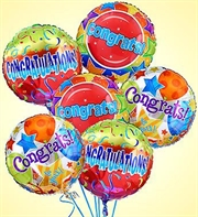Air Arrangement Congratulations 6 Mylar Balloons