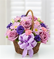 Basket Of Blooms For Mom - Deluxe